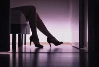 legs in the dark