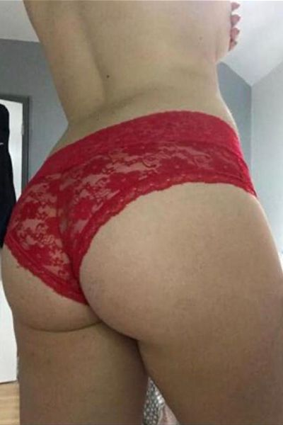 big firm ass in red pants