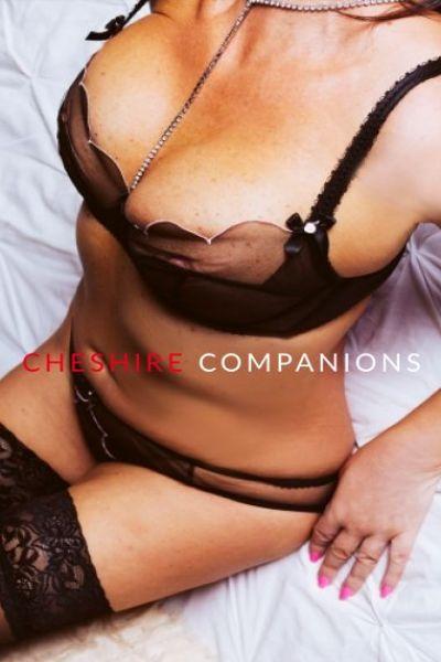 black bra enhancing cleavage