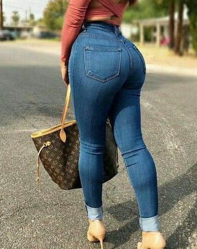 nice ass in tight blue jeans